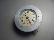 "Vintage! Rare! 1908c. 4"" Newman Timekeepers Three Brass Key Clock"