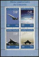 Madagascar 2019 CTO Concorde 50th Anniv 4v M/S Aviation Stamps