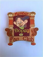 Rare Old Le Disney Auctions (P.I.N.S.) Dopey Fan Club Member Snow White 7 Dwarfs
