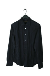 Original Louis Vuitton Men Monogram Silk Dark Blue Shirt size XL