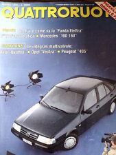 Quattroruote 413 1990 Test Audi A4 - Opel Vectra -Peugeot 405 - Fiat Tempra[Q53]