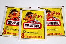 Americana 1978 Sesamstrasse Sésame Street 3 X Sac en Papier Paquet Bustina Rare