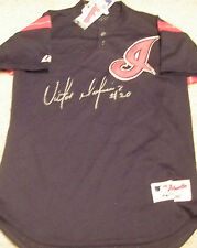 TIGERS INDIANS V MARTINEZ SIGNED AUTOGRAPHED AUTHENTIC BASEBALL JERSEY ADULT M