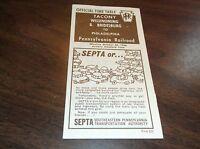 OCTOBER 1966 PRR PENNSYLVANIA FORM 121 TACONY, PA PUBLIC TIMETABLE