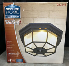 """Secure Home Motion Activated 12"""" Black Security Light Fixture 022246"""