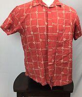 Batik Bay - Men's casual / camp shirt Red SIZE XL Trim FIt