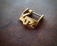 Ω OMEGA Gold Plated Steel Watch Strap Buckle for 18mm strap 16mm inner measure