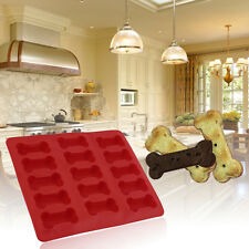 15-cavity Dog Bone Cake Biscuit Mold Mould Soap Mold Silicone Flexible Tool JL