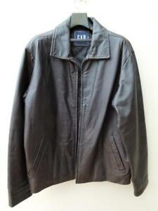 GAP Mens Genuine Leather Jacket Size M