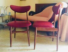 ✅ Sedia danese design scandinavo originale anni 70 particolare colore bordeaux