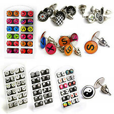 24Pcs Hot Wholesale Lot Enamel Logo Colorful Ear Studs Earrings With Display Pad