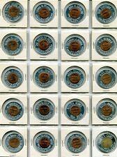 20 different Fankhauser round aluminum encased cents