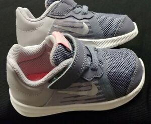 Nike Toddler Girls Downshifter 8 Shoes Gray/Pink - Size 6c - Barely Worn