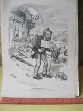 Vintage Print,FINGER OF SCORN,Thomas Nast,Harpers,Political,Jan 1873