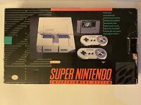 🔥 SNES Super Nintendo System Console Super Mario World Set Complete In Box 🔥