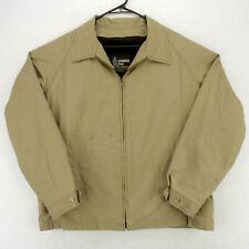 LONDON FOG Vtg 80s Khaki Bomber Jacket Sherpa Fleece Liner Men's 46R Large