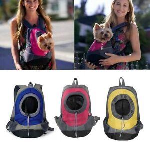 Portable Pet Dog Carrier Puppy Backpack Mesh Travel Carrying Bag Shoulder Bag UK