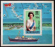 Kiribati – 1983 Royal Visit – SPECIMEN Miniature Sheet – RARE – MNH (Se1a)