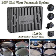 Car 360° Bird View Panoramic System Night Vision ADAS w/ Seamless Splice Cameras