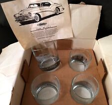 BUICK/GM~PROMOTIONAL DEALERSHIP~1953 BUICK SKYLARK CONV~DRINKING GLASSES~4Pc SET