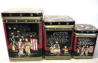 Lot 3 vintage tin boxes Candy Biscuits Coffee Japan cookies sweet FREE SHIPPPING