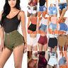 US Women Casual High Waisted Short Mini Jeans Denim Slim Beach Shorts Hot Pants