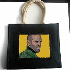 JASON STATHAM JUTE TOTE SHOPPING BAG PHOTO FAN POP ART GIFT
