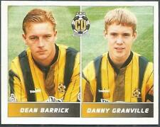PANINI FOOTBALL LEAGUE 95 -#424-CAMBRIDGE UNITED-DEAN BARRICK / DANNY GRANVILLE