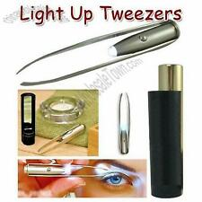 LED LIGHT TWEEZERS - HIGH QUALITY with CASE & MIRROR - DIY / PROFESSIONAL