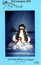 "2000 Uncut Homespun Hill Sewing Craft Doll Pattern 152 ""Old Man Winter & Jingles"