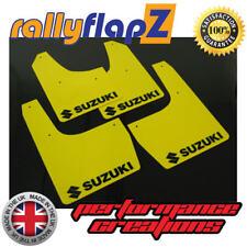 Mud Flaps Suzuki Ignis Sport (03-05) Mudflaps Yellow 4mm PVC (Suzuki Logo Black)