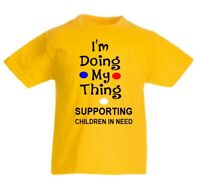 Children In Need  Boys T Shirt Personalised Girl spotty Top  doing my thing