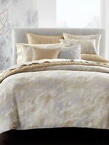 Hotel Collection Metallic Stone King Duvet Cover Color Gold And Silver