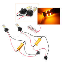 2x T20 7440 42-SMD 2835 50W Dual Color Switchback LED DRL Turn Signal Lamp Light