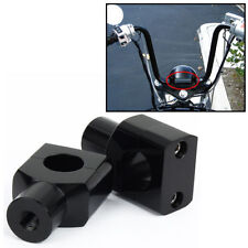 "Black 1"" Handlebar Risers for Honda Shadow Aero Phantom VLX 600 750 1100 New"