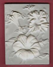Flower tile #1: Marigold plaster of paris painting project. Single tile.