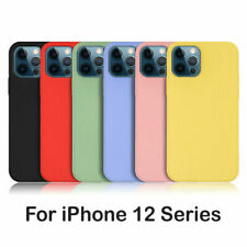 Silicone Case For iPhone 12 Pro Max 11 XR SE 2 Soft Genuine Liquid Rubber Cover
