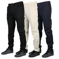 BB MENS URBAN NOMAD ZIP FLY TAPERED SLIM FIT CHINO TROUSERS