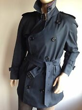 BURBERRY MENS XL LARGE 42-44 CHEST NAVY BLUE VINTAGE TRENCH COAT RAINCOAT MAC