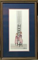 P. BUCKLEY MOSS Framed And Signed 402/1000 Print 1987 ~ Girls
