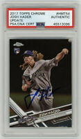 2017 BREWERS Josh Hader signed ROOKIE card Topps Chrome #HMT54 PSA/DNA AUTO RC