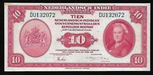 Niederlande Indies - 10 Gulden Note - 1943 - P114 - Stgl