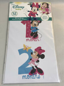 Disney Baby Minnie Mouse First Year Milestone Belly Stickers 12 Month Photo Prop