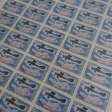FEUILLE SHEET AVIATION PARIS LE MANS ST NAZAIRE N°1565 x50 1968 NEUF ** LUXE MNH