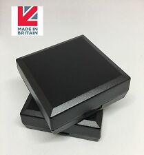 100 BLACK DISPLAY GIFT BOXES PENDANTS, NECKLACES, EARRINGS, JEWELLERY FREE P&P