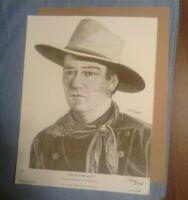 John Wayne THE RINGO KID by Larry Bees 1985 Stagecoach print The DUKE Western