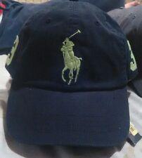 NEW Polo Ralph Lauren Baseball Cap Hat Big Pony Adjustable  BLACK AND LIME