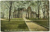 3rd North Street View Capitol Harrisburg Pennsylvania PA Vintage 1900's Postcard
