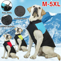 Waterproof Pet Dog Warm Padded Vest Coat Puppy Autumn Winter Jacket Clothes w