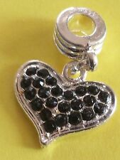 New European Charm Silver Embellished Heart. Buy1,19 more ship free! buy 5 get 1